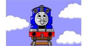Train drawing by Sim