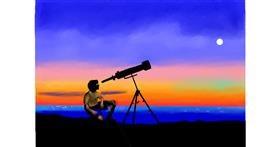 Telescope drawing by GJP
