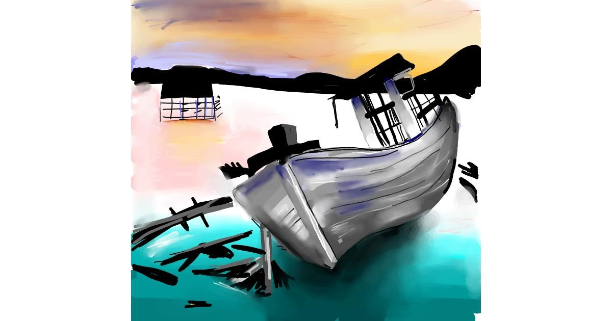 Boat drawing by Rose rocket