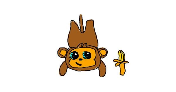 Monkey drawing by Charlotte