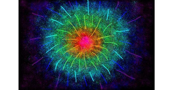 Fireworks drawing by uwu