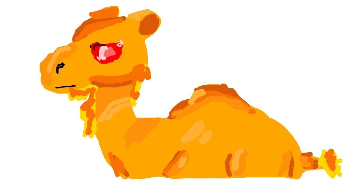 Drawing of Camel by MEGA FAT POTATO
