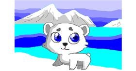 Polar Bear drawing by Jimmah