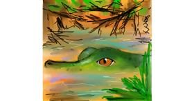 Drawing of Alligator by Sufi