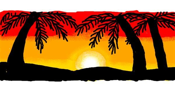 Palm tree drawing by Uniqua