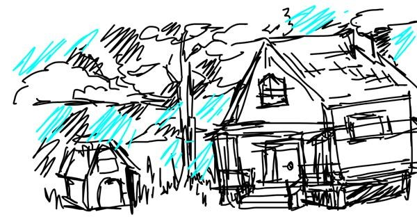 House drawing by mmim