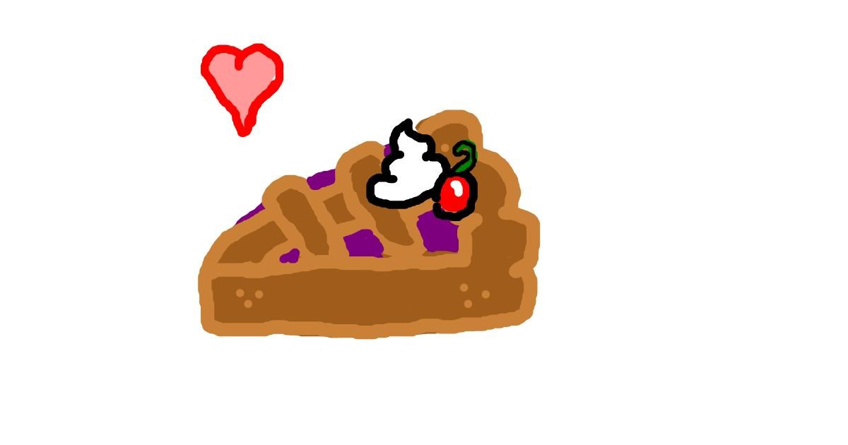 Drawing of Pie by bob