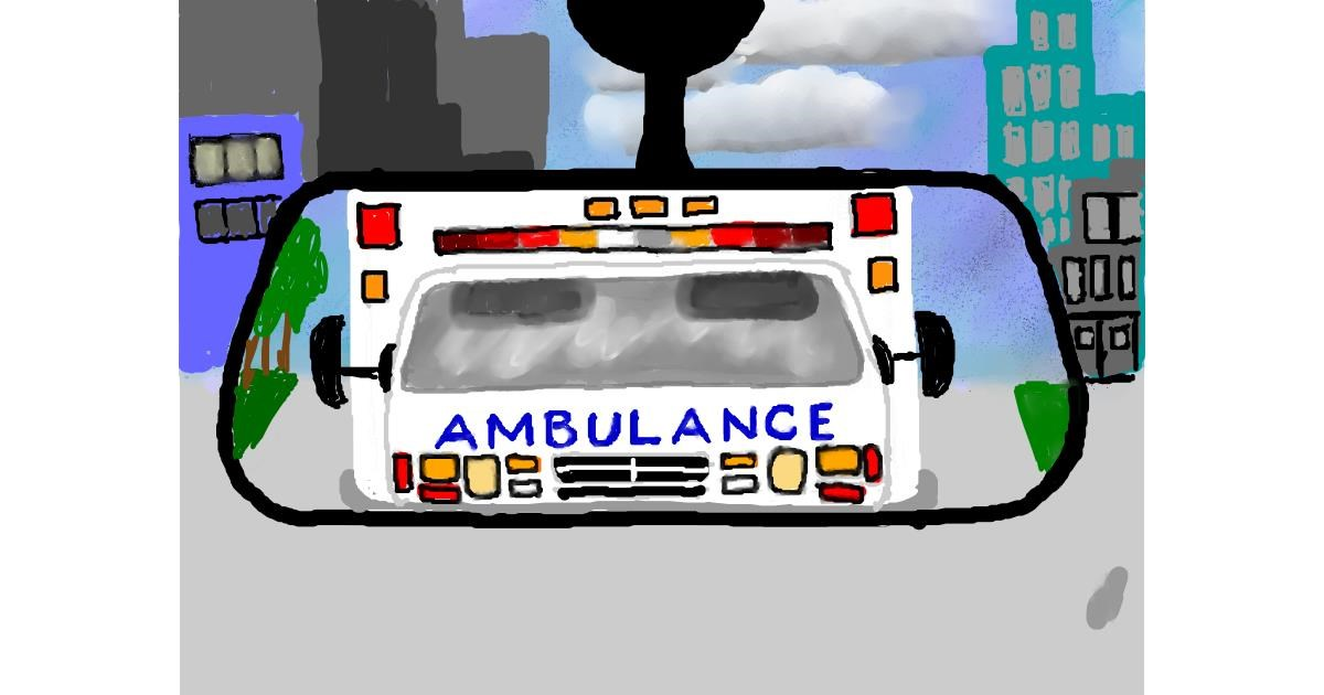 Ambulance drawing by SAM AKA MARGARET 🙄