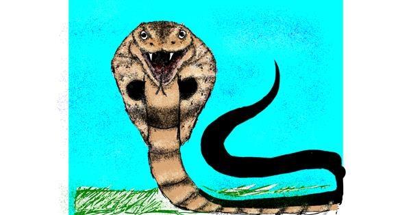 Snake drawing by Nonuvyrbiznis