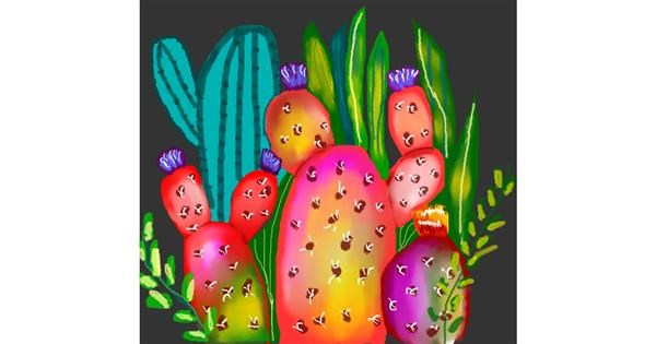 Cactus drawing by Arken