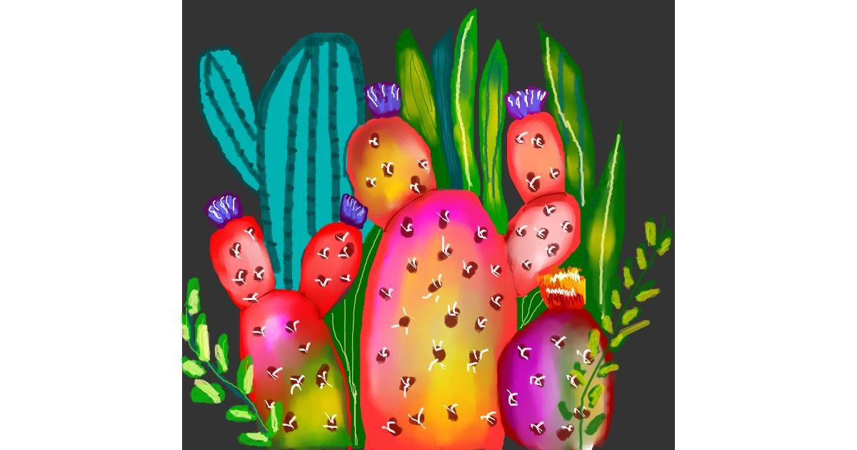 Cactus drawing by Dollie 🦅🐬