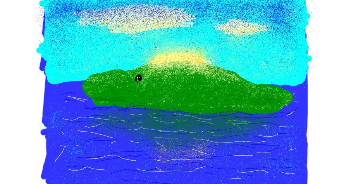 Alligator drawing by weregettingcrazy85