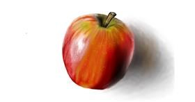 Apple drawing by Jan