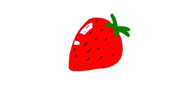 Strawberry drawing by pepapig
