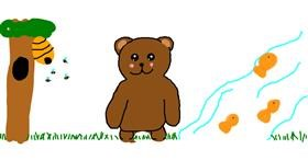 Bear drawing by Gel