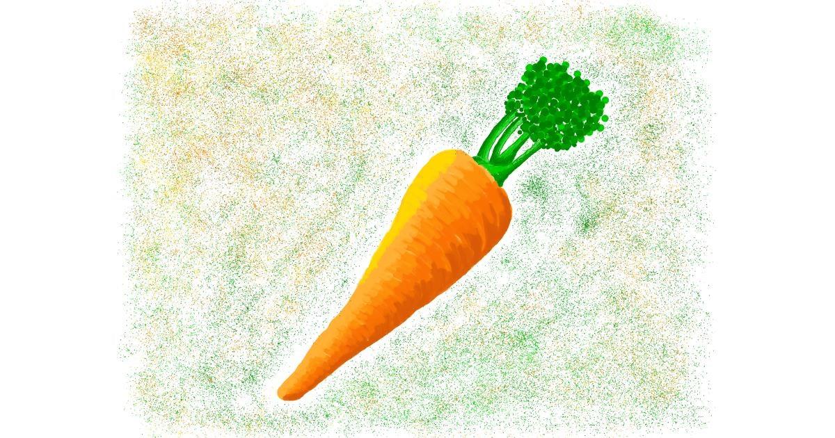 Carrot drawing by AlexTib