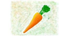 Carrot drawing by AlexTib