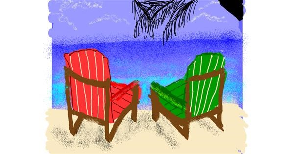 Chair drawing by Cherri