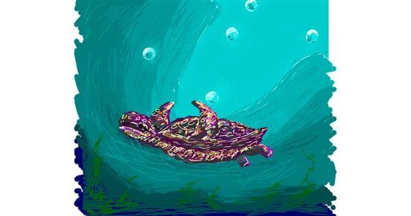 Sea turtle drawing by shinkinoko