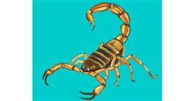 Scorpion drawing by Cec