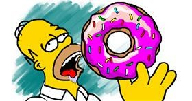 Donut drawing by tRay