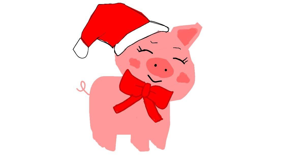 Pig drawing by MaRi