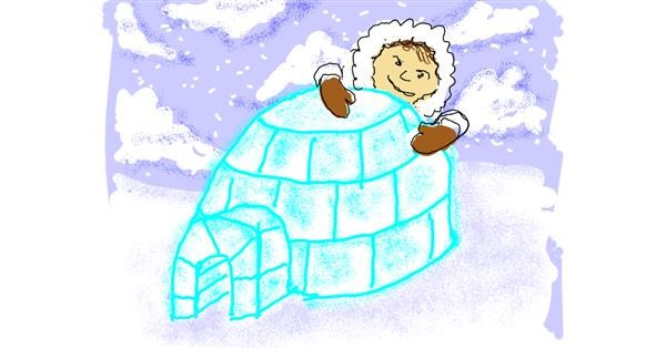 Igloo drawing by Cherri