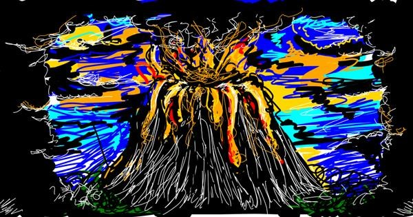 Volcano drawing by ShallowNeedle