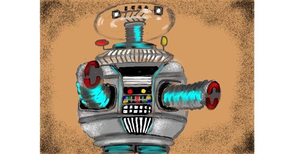 Robot drawing by SAM 🙄AKA Margaret
