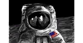 Astronaut drawing by Soaring Sunshine