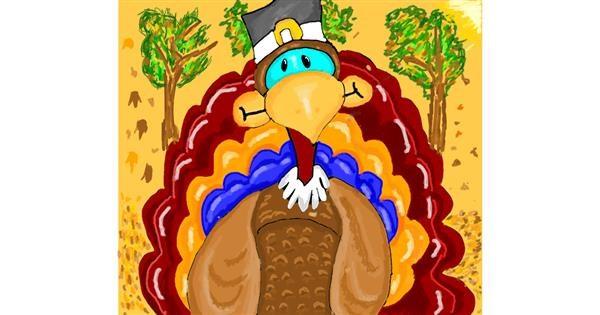 Turkey drawing by Mercy