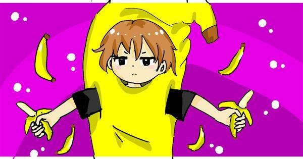 Banana drawing by Acorn