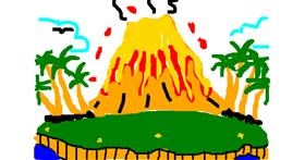 Volcano drawing by RUTLANLUIRHIMAY