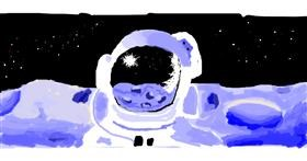 Astronaut drawing by jegaevi