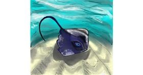 Stingray drawing by Gzell