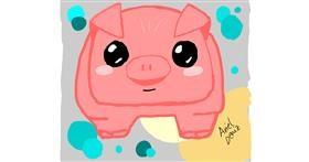 Pig drawing by ArielDeniz