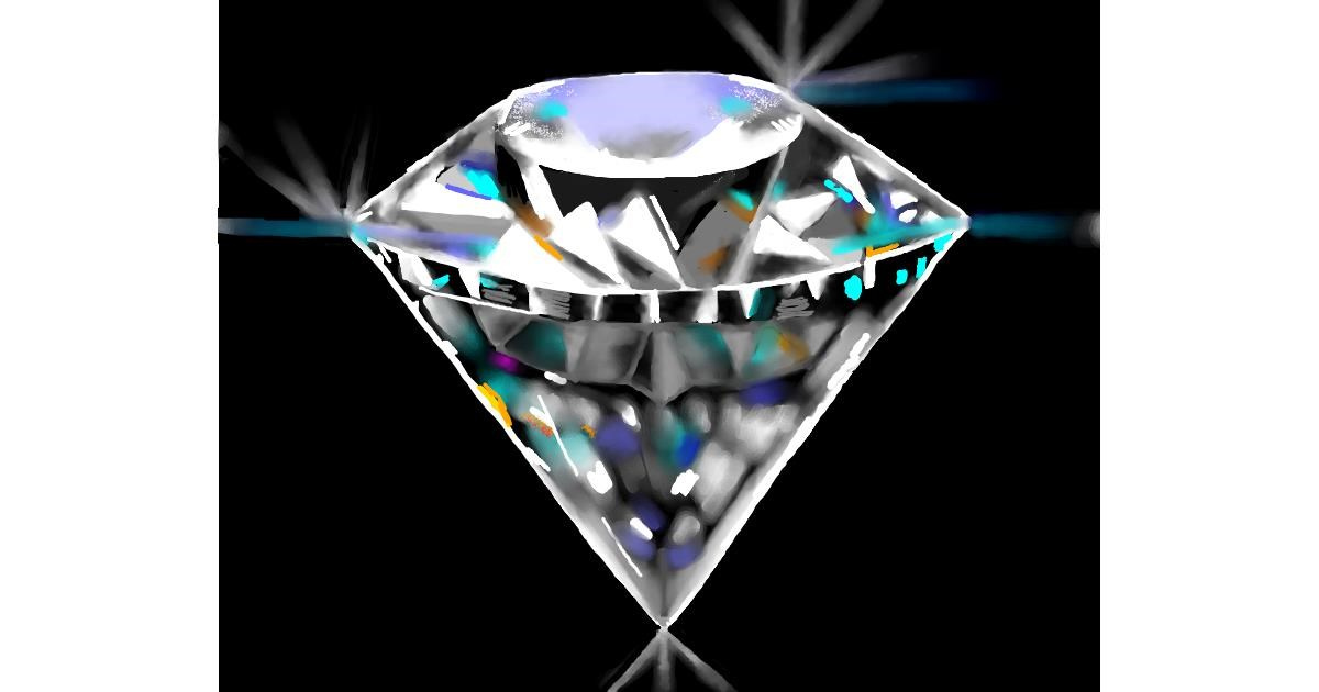 Diamond drawing by Cec