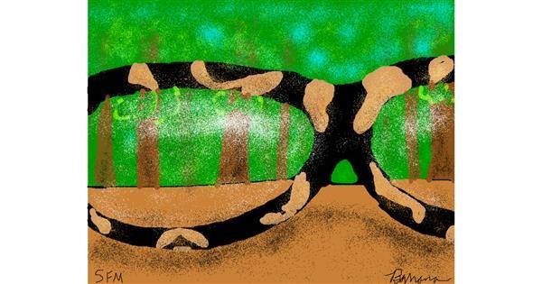 Glasses drawing by Banana