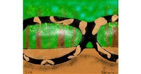 Drawing of Glasses by Banana