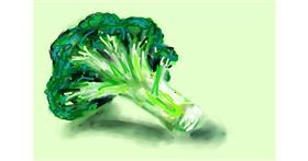 Broccoli drawing by Soaring Sunshine