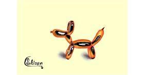 Balloon drawing by Burj khalifa