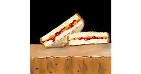 Sandwich drawing by Dreamer