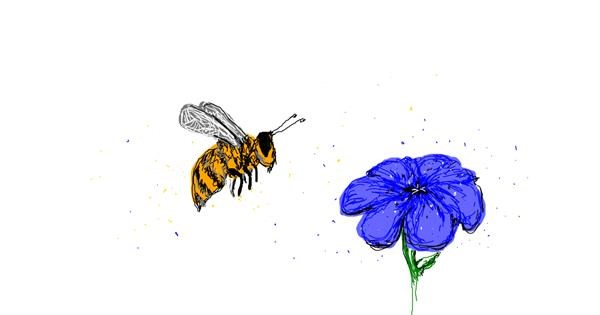 Bee drawing by Black Porcupine