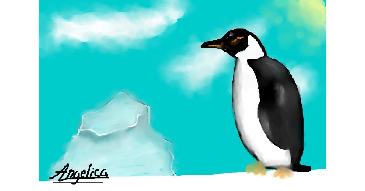 Penguin drawing by ≠yarį_dęmøń≠