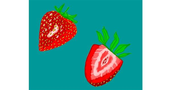 Strawberry drawing by MaRi