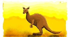 Kangaroo drawing by Paranoia