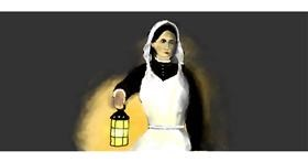 Drawing of Nurse by Pinky