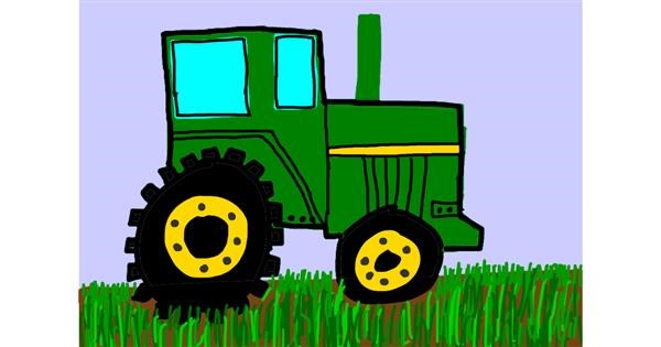 Tractor drawing by Brianna🌼