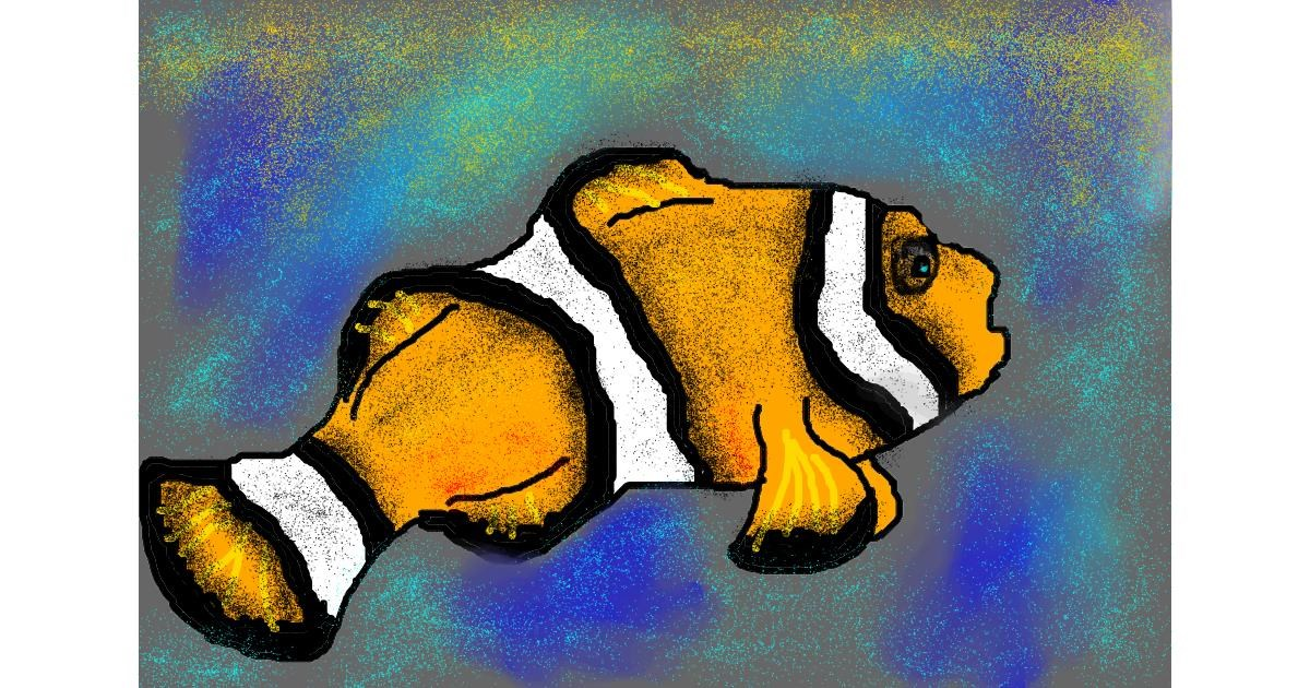 Clownfish drawing by The person in your attic