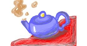 Teapot drawing by im just rich
